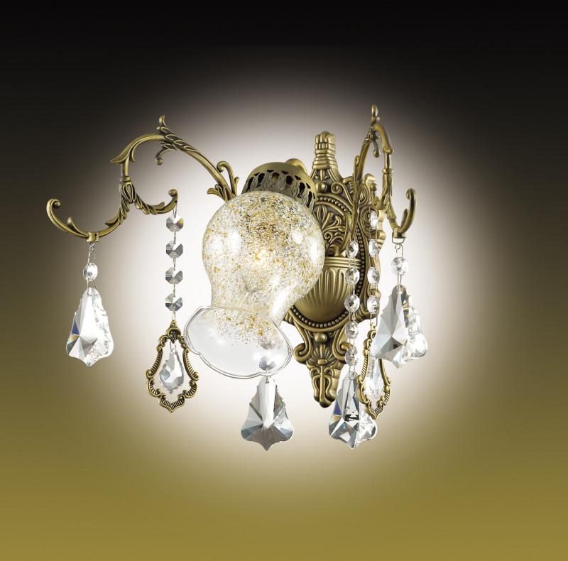все цены на Odeon Light 2879/1W ODL16 015 бронзовый/хрусталь Бра E14 60W 220V GARDIA