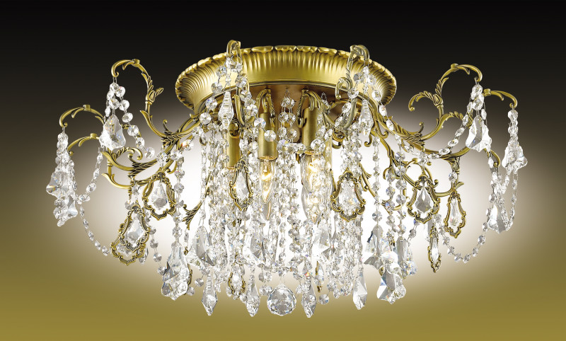 все цены на Odeon Light 2879/6C ODL16 015 бронзовый/хрусталь Люстра потолочная E14 6*60W 220V GARDIA