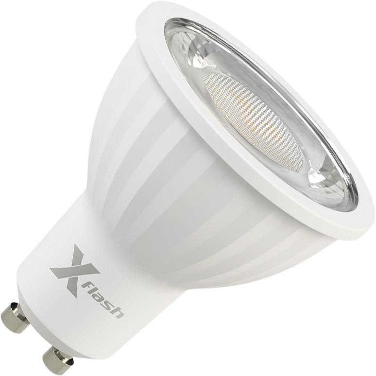 X-Flash Светодиодная диммируемая лампа X-flash XF-MR16D-P-GU10-8W-3000K-220V (арт.47239) лампа светодиодная x flash xf e27 r90 p 12w 3000k 220v 10шт