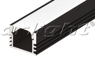 Arlight Алюминиевый Профиль PDS-S-2000 ANOD Black arlight алюминиевый профиль hr 2000