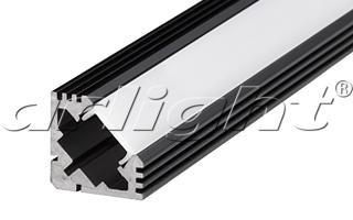 Arlight Алюминиевый Профиль 2 метра PDS45-T-2000 ANOD Black RAL9005 ворота каркас эконом 2 0х3 45 м серые ral 7040