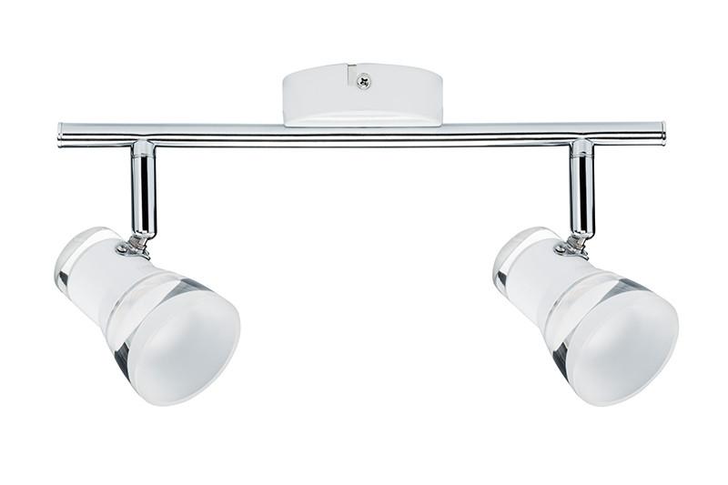 Paulmann Spotlight Clear 2x5W Ws m/Chr 230V Mt Ac paulmann fenno tischl max1x20w grau 230v beton
