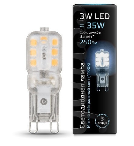 Gauss Лампа Gauss LED G9 AC220-240V 3W 4100K пластик 1/20/200 стоимость