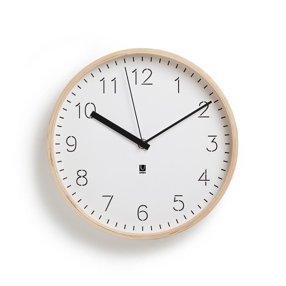 Umbra Часы настенные rimwood белые umbra
