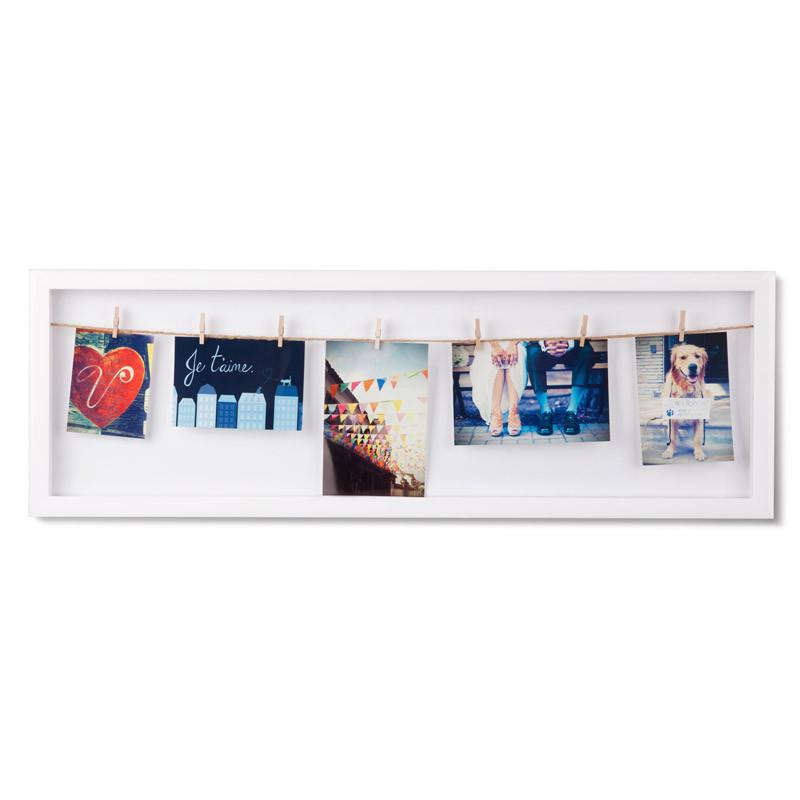 Umbra Панно с зажимами для 7 фото clothesline белое