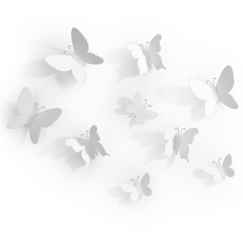 Umbra Декор для стен mariposa 9 элементов белый декор для стен umbra mariposa 9