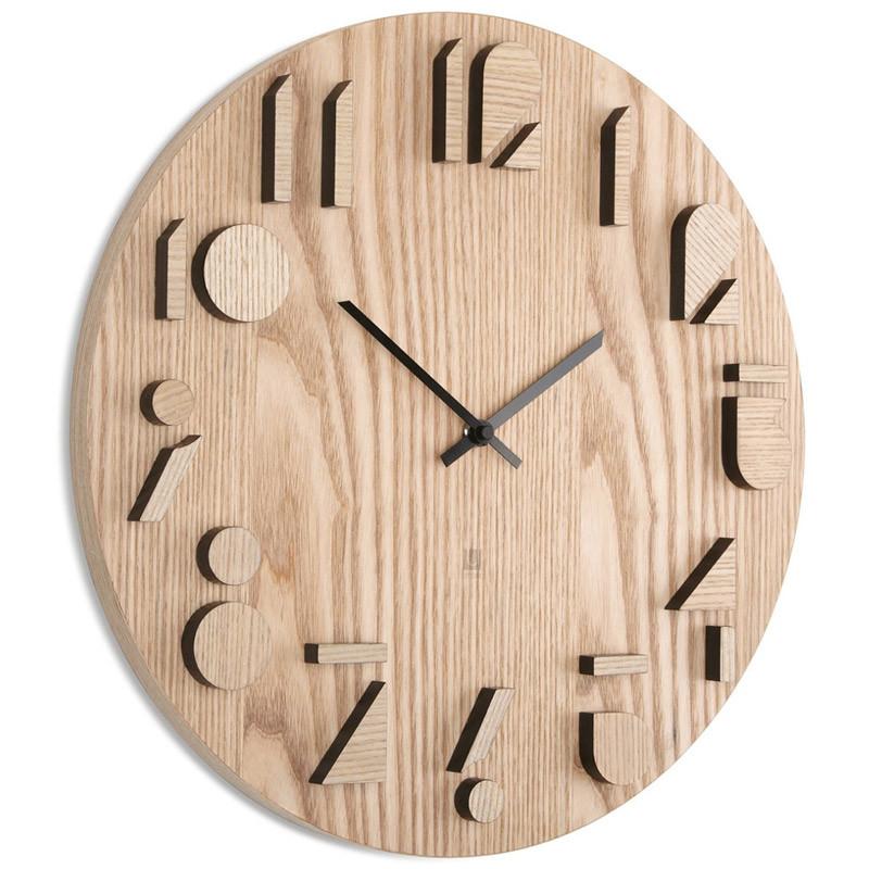 Umbra Часы настенные shadow натуральное дерево
