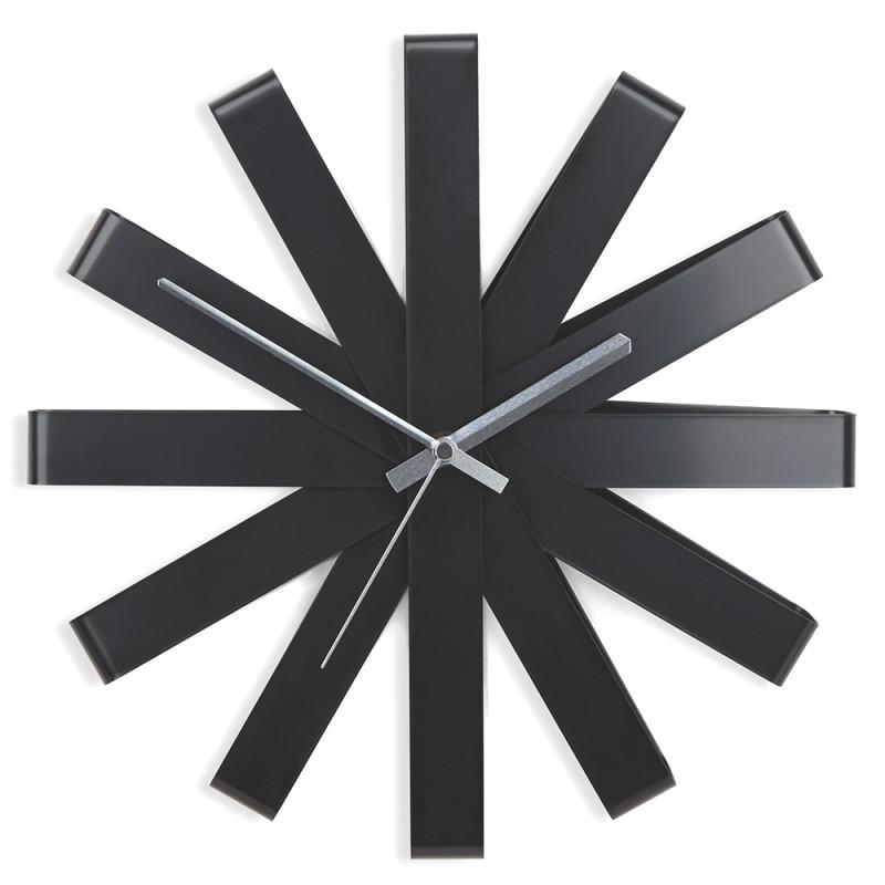 Umbra Часы настенные ribbon чёрныe