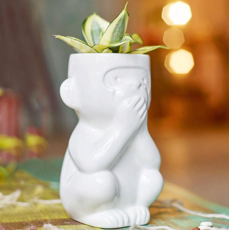 Экочеловеки Горшок для растений eco молчун набор для выращивания eco молчун 1021367