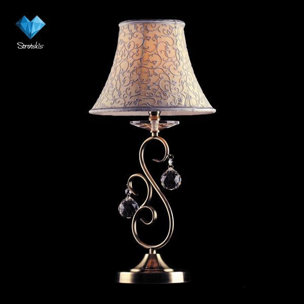 Фото Eurosvet 3294/1T античная бронза наст. лампа Strotskis. Купить с доставкой