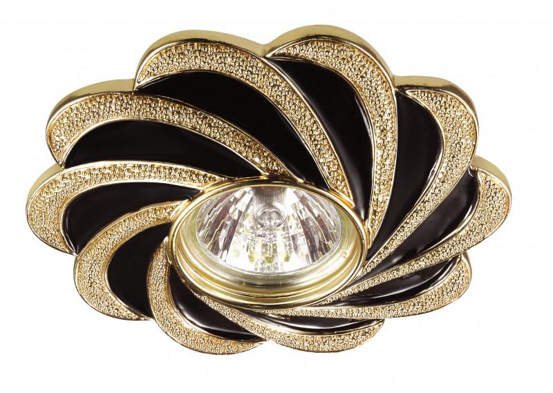 Novotech 370220 NT16 140 чёрный/золото Встраиваемый декоративный светильник IP20 GU5.3 50W 12V PATTERN все цены