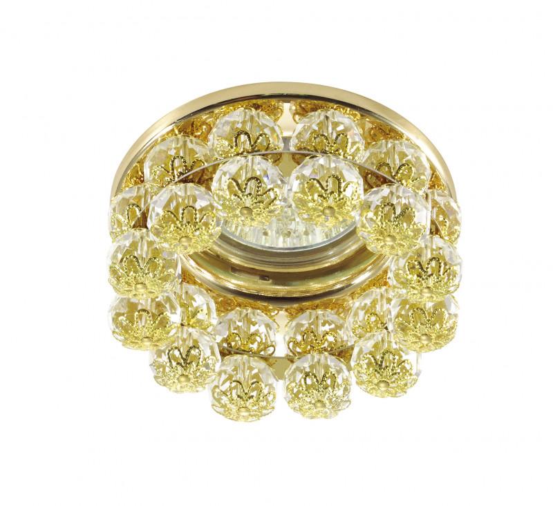 Novotech 370228 NT16 176 золото Встраиваемый декоративный светильник IP20 GU5.3 50W 12V MALINY встраиваемый светильник novotech maliny 370228