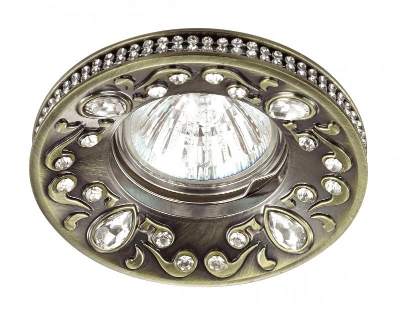 Novotech 370235 NT16 138 бронза Встраиваемый декоративный светильник IP20 GU5.3 50W 12V ERBA