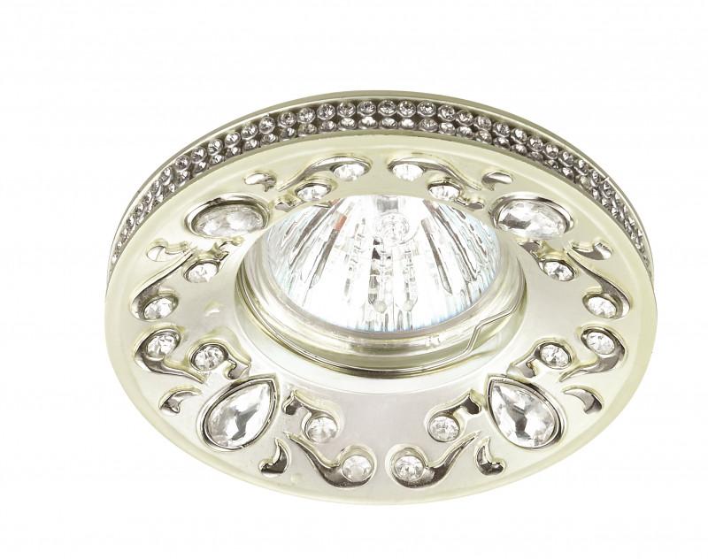 Novotech 370238 NT16 138 перламутр/хром Встраиваемый декоративный светильник IP20 GU5.3 50W 12V ERBA