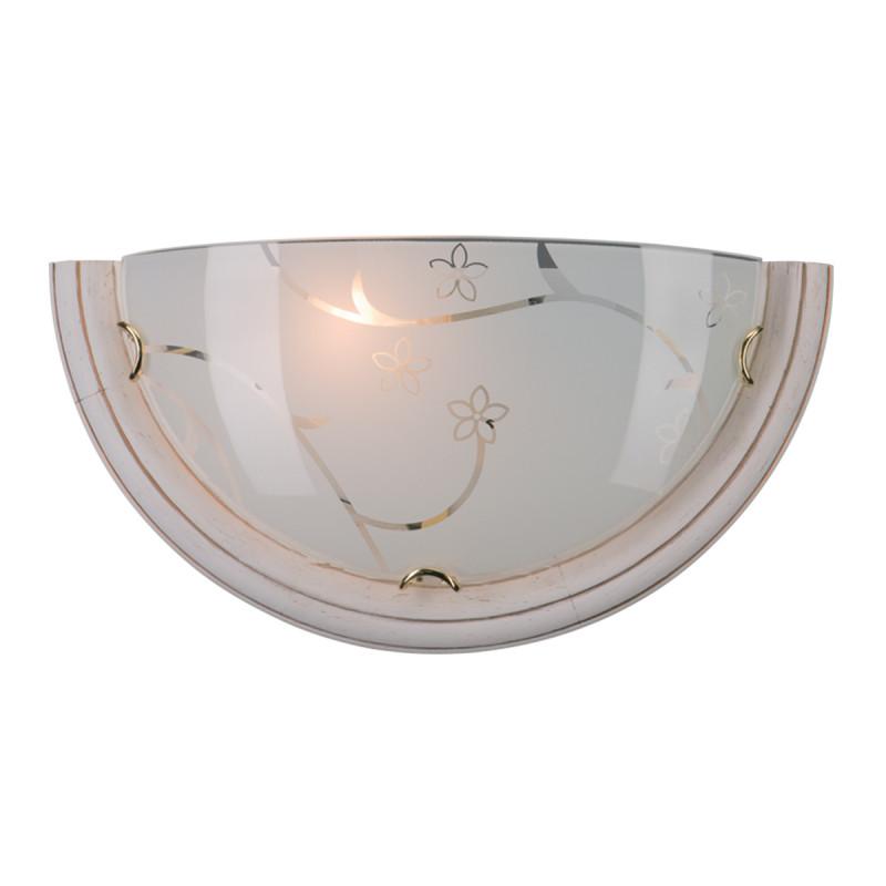Sonex 002 SN15 115 бел.дер. с зол.патиной/зол/белый/декор Бра E27 100W 220V BLANKETA GOLD