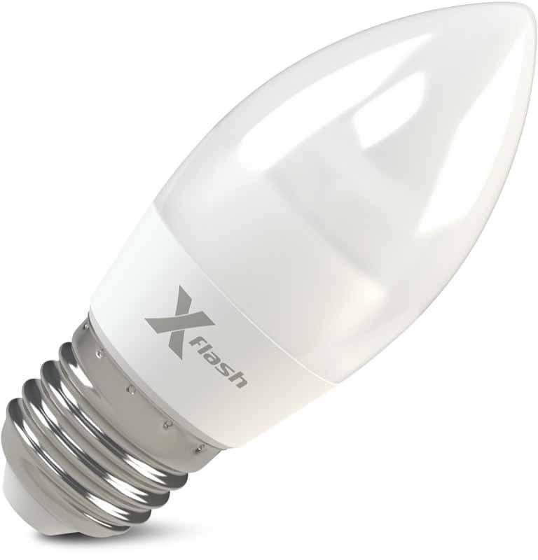 X-Flash Светодиодная лампа XF-E27-MF-6.5W-3000K-220V X-flash лампа светодиодная x flash xf e27 r90 p 12w 3000k 220v 10шт