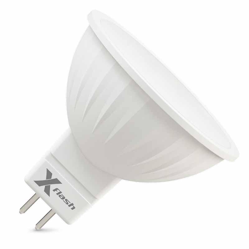 X-Flash Светодиодная лампа XF-MR16-P-GU5.3-3W-4000K-220V X-flash лампочка x flash spotlight mr16 xf spl l gu5 3 6w 3000k 12v желтый свет линза 43507