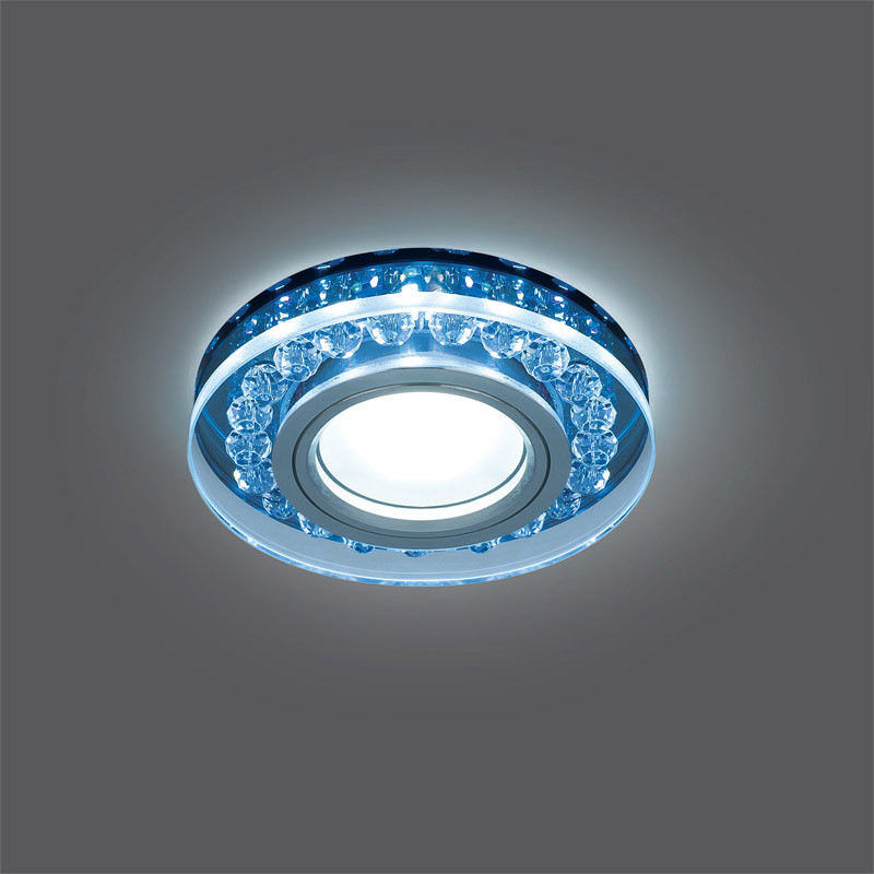 Gauss Светильник Gauss Backlight BL047 Кругл. Черный/Кристалл/Хром, Gu5.3, LED 4100K 1/40 gauss светильник gauss backlight bl070 круг гран черный серебро хром gu5 3 led 4100k 1 40