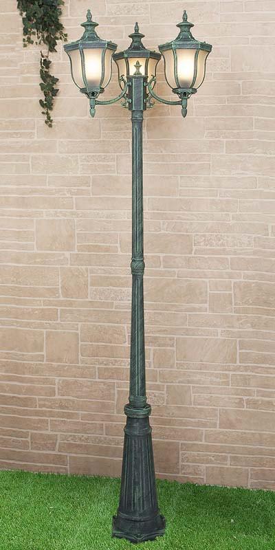 Elektrostandard Светильник на столбе Taurus F/3 малахит (арт. GLXT-1458F/3) садовый светильник elektrostandard taurus f 3 малахит арт glxt 1458f 3