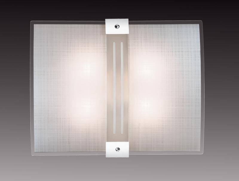 Sonex 2110 FBK06 101 белый/хром Н/п светильник E27 2*60W 220V DECO