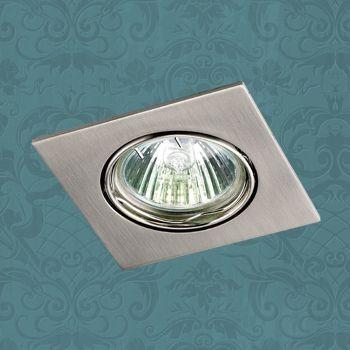Фото Novotech 369106 NT09 277 никель Встраиваемый ПВ светильник GU5.3 50W 12V QUADRO. Купить с доставкой