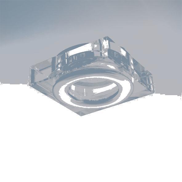 Lightstar 006840 Светильник DIFESA MINI QUA MR16 IP44* AЛЮМ ХРОМ/ПРОЗРАЧНЫЙ, шт встраиваемый точечный светильник коллекция difesa 070203 хром прозрачный lightstar лайтстар
