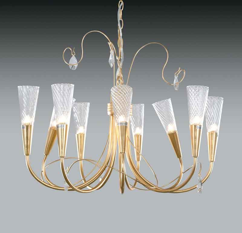 Lightstar 711093*** (SD1105/9)  Люстра AEREO 9х25W G9  gold foil, шт lightstar 804040 c0290 09l люстра lobo 9х40w g9 стекло матовое шт
