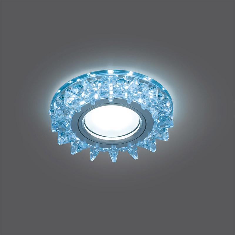Gauss Светильник Gauss Backlight BL038 Кругл. Кристалл/Хром, Gu5.3, LED 4100K 1/40 gauss светильник gauss backlight bl070 круг гран черный серебро хром gu5 3 led 4100k 1 40