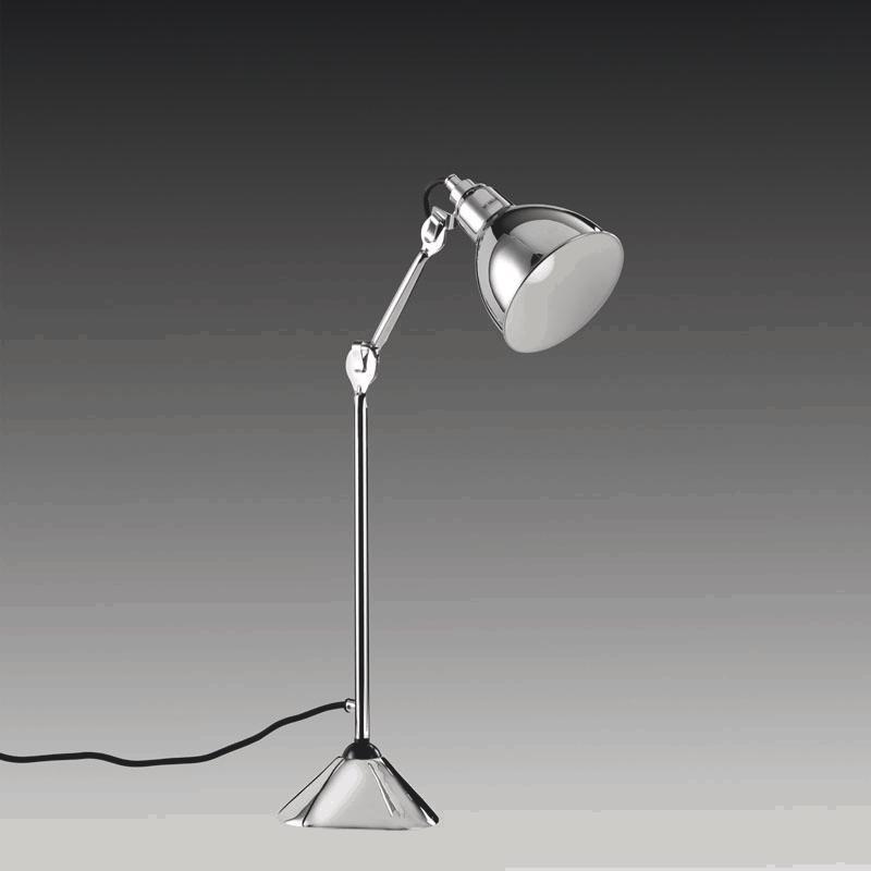 Фото Lightstar 765914 (MТ1201802-1А) Настольная лампа  LOFT 1х40W E14 ХРОМ, шт. Купить с доставкой