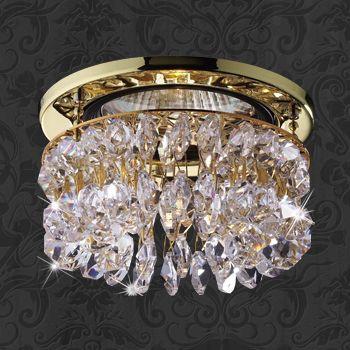 Novotech 369335 NT09 189 золото/прозрачный Встраиваемый светильник IP20 GU5.3 50W 12V FLAME2