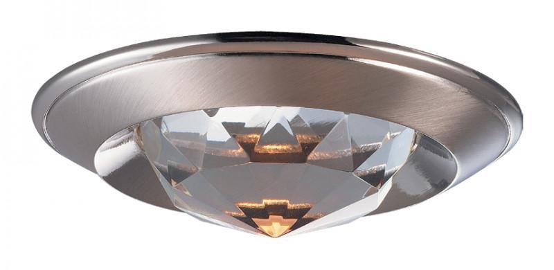 Novotech 369426 NT10 233 никель Встраиваемый НП светильник IP20 GU5.3 50W 12V GLAM glam 369426 novotech