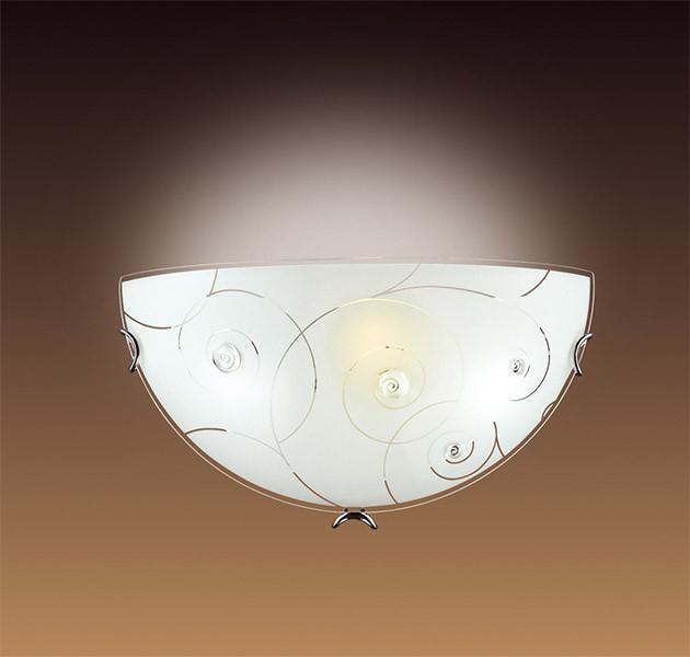 Sonex 047 SN15 041 хром/белый/декор прозрачн Бра E27 100W 220V KAPRI