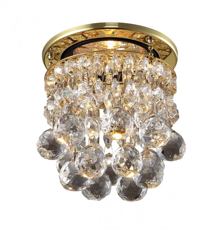 Фото Novotech 369329 NT09 174 золото/прозрачный Встраиваемый светильник IP20 GU5.3 50W 12V DROP. Купить с доставкой