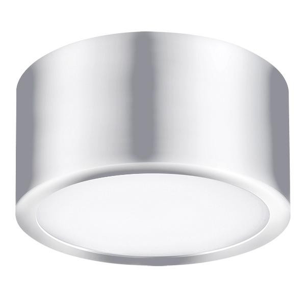 Фото Lightstar 213914 Светильник ZOLLA CYL LED-RD 10W ХРОМ 4000K , шт. Купить с доставкой