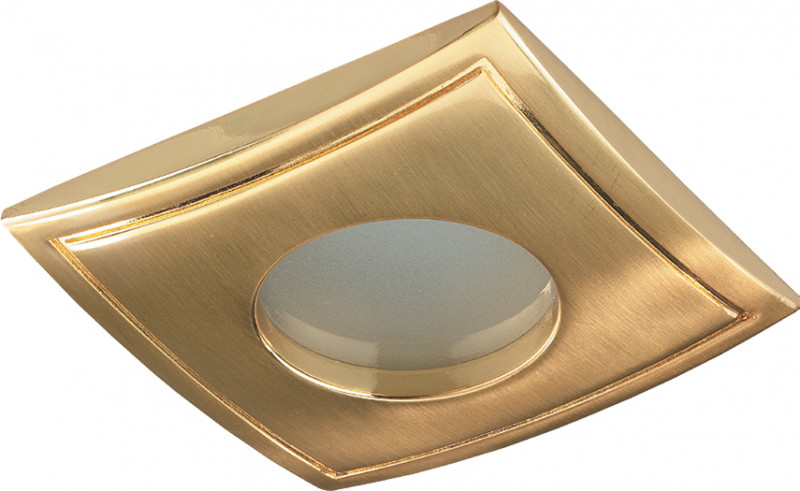 Novotech 369308 NT09 288 золото Встраиваемый НП светильник IP65 GU5.3 50W 12V AQUA встраиваемый светильник novotech 369308