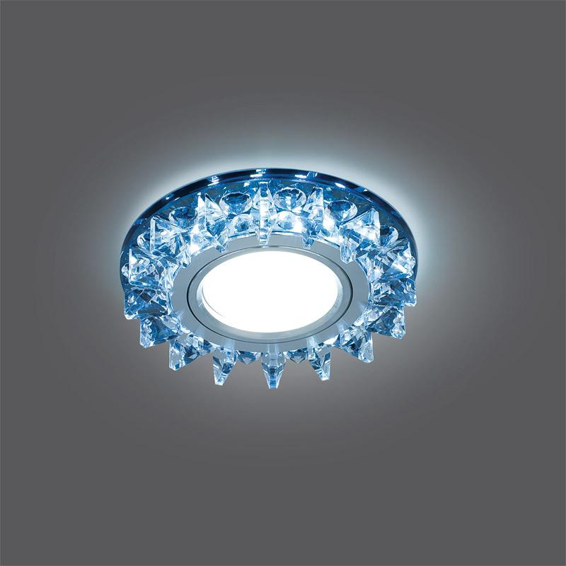 Gauss Светильник Gauss Backlight BL036 Кругл. Черный/Кристалл/Хром, Gu5.3, LED 4100K 1/40 gauss светильник gauss backlight bl070 круг гран черный серебро хром gu5 3 led 4100k 1 40