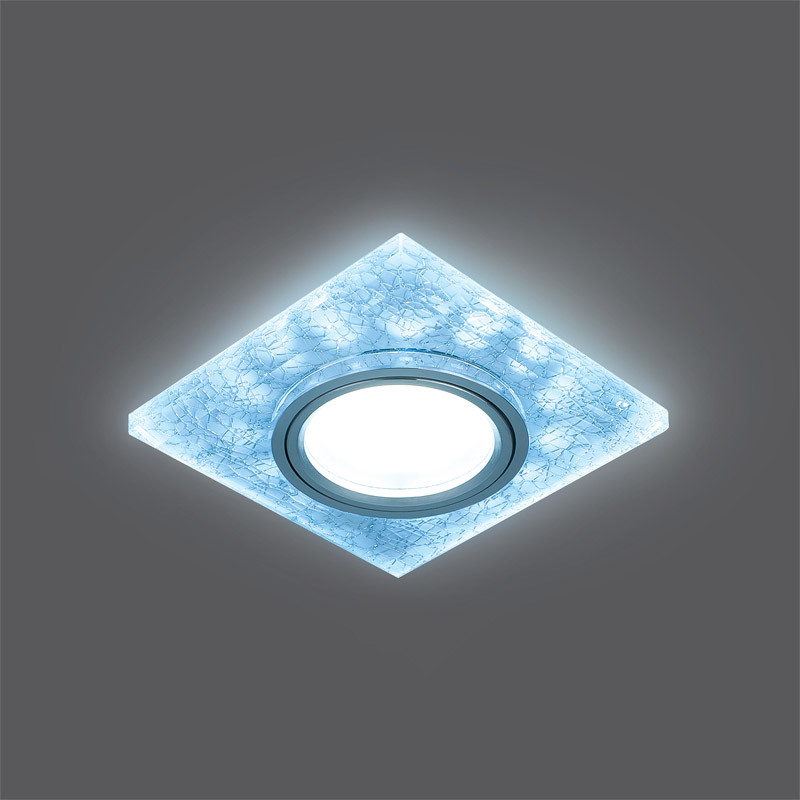 Gauss Светильник Gauss Backlight BL065 Квадрат. Белый/Серебро/Хром, Gu5.3, LED 4100K 1/40 gauss светильник gauss backlight bl070 круг гран черный серебро хром gu5 3 led 4100k 1 40