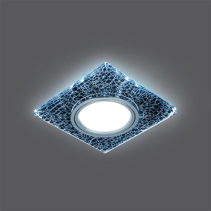 Gauss Светильник Gauss Backlight BL068 Квадрат. Черный/Серебро/Хром, Gu5.3, LED 4100K 1/40 gauss светильник gauss backlight bl070 круг гран черный серебро хром gu5 3 led 4100k 1 40