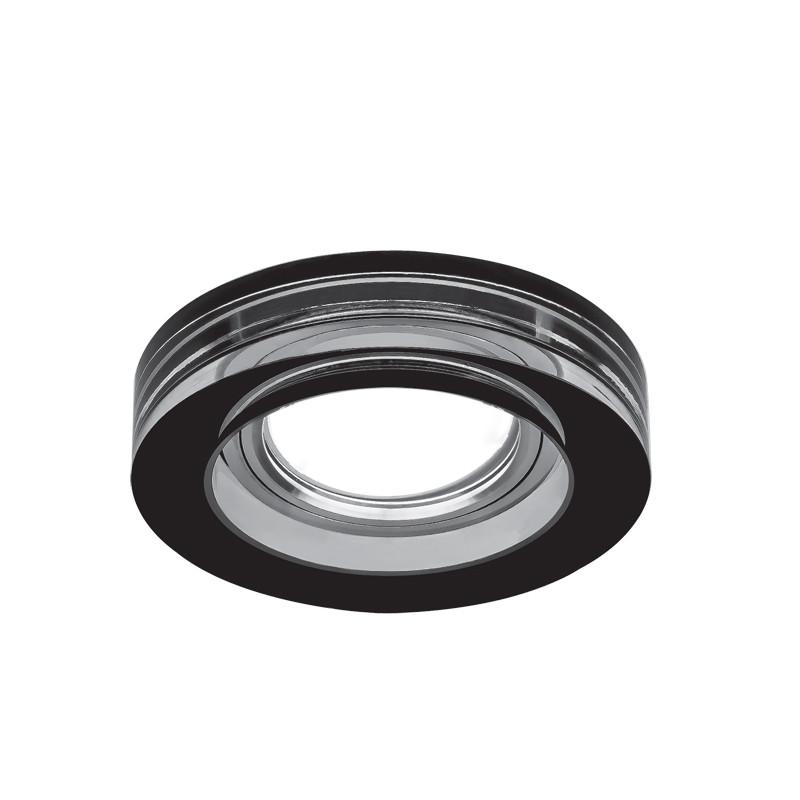 Фото Gauss Светильник Gauss Glass CR036 Черный, Gu5.3 1/30. Купить с доставкой