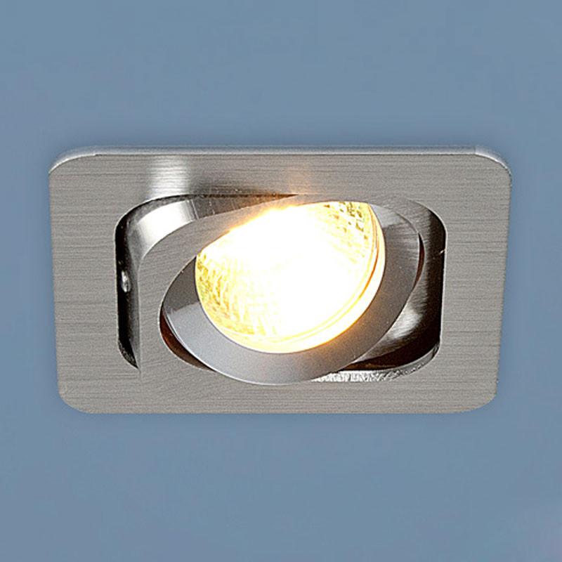 Elektrostandard 1021/1 CH (хром) встраиваемый светильник elektrostandard техно 1021 1