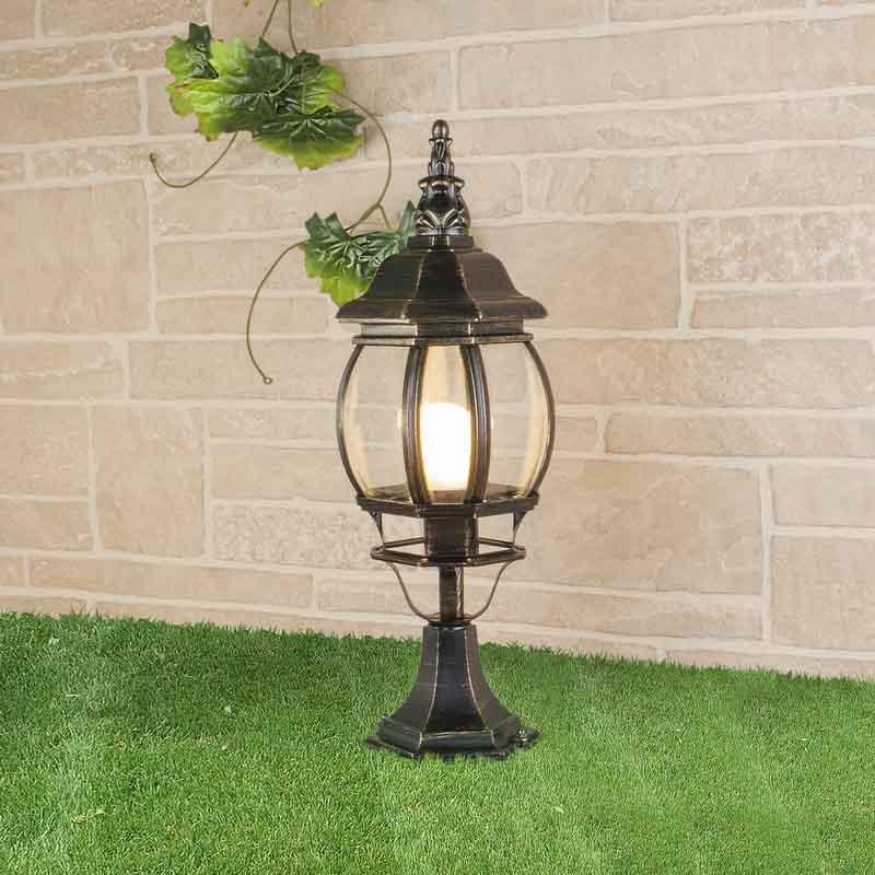 Elektrostandard GL 1001S черное золото уличный светильник 1001s черный 4690389076053 elektrostandard 1168537