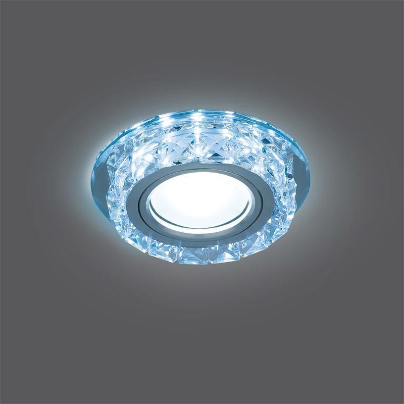 Gauss Светильник Gauss Backlight BL040 Кругл. Кристалл/Хром, Gu5.3, LED 4100K 1/40 gauss светильник gauss backlight bl070 круг гран черный серебро хром gu5 3 led 4100k 1 40