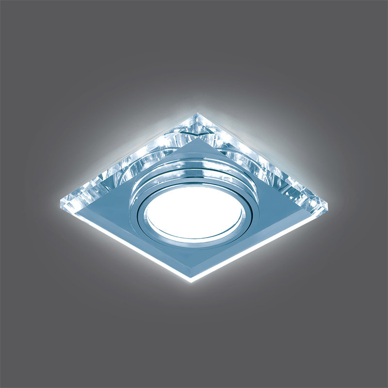 Gauss Светильник Gauss Backlight BL062 Квадрат. Кристалл/Хром, Gu5.3, LED 4100K 1/40 gauss светильник gauss backlight bl070 круг гран черный серебро хром gu5 3 led 4100k 1 40