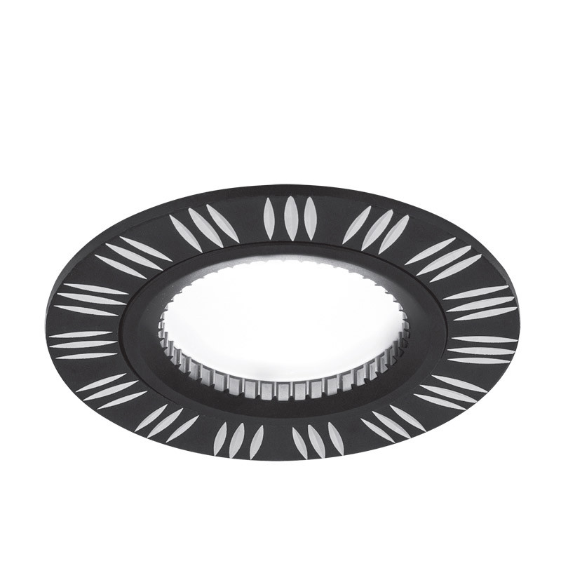 Gauss Светильник Gauss Aluminium AL018 Круг. Черный/Хром, Gu5.3 1/100