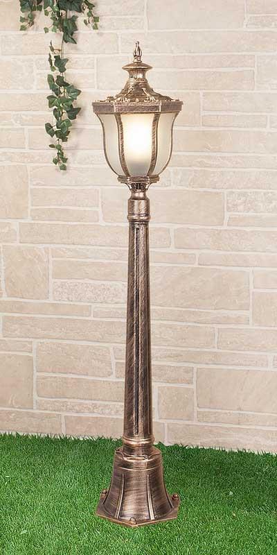 Elektrostandard Светильник на столбе Taurus F черное золото (арт. GLXT-1458F) садовый светильник elektrostandard taurus f 3 малахит арт glxt 1458f 3