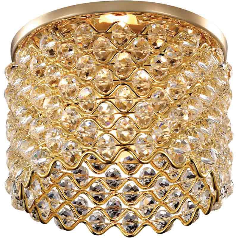 Novotech 369892 NT14 183 золото Встраиваемый светильник IP20 G9 40W 220V PEARL novotech встраиваемый светильник novotech pearl 369892