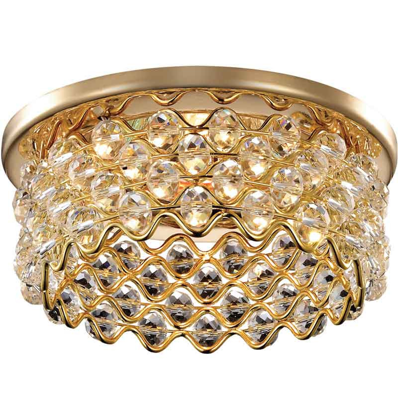 Novotech 369893 NT14 183 золото Встраиваемый светильник IP20 GU5.3 50W 12V PEARL встраиваемый светильник novotech pearl round 369441