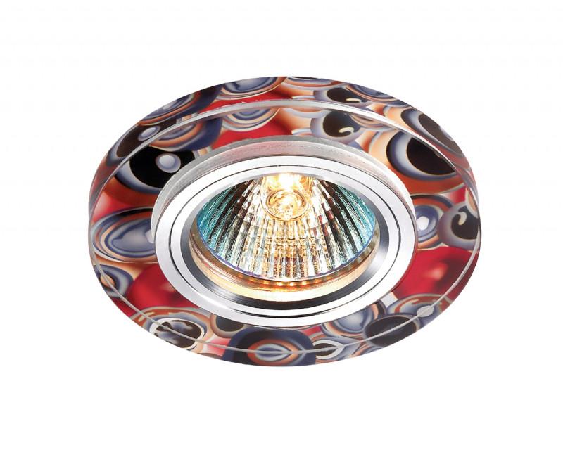 Фото Novotech 369909 NT14 231 алюминий/цветной Встраиваемый светильник IP20 GU5.3 50W 12V RAINBOW. Купить с доставкой