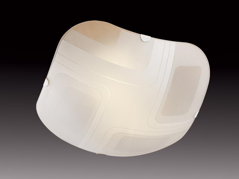 Sonex 2141 FBD08 095 белый/хром Н/п светильник E27 2*60W 220V ILLUSION настенно потолочный светильник коллекция illusion 2141 хром белый sonex сонекс