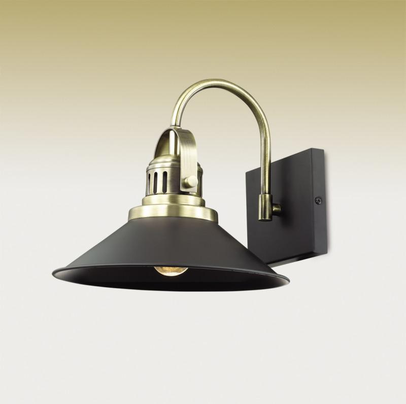 Odeon Light 2898/1W ODL16 103 черный/бронзов./металл Бра E27 60W 220V LATURA бра odeon light latura 2898 1w